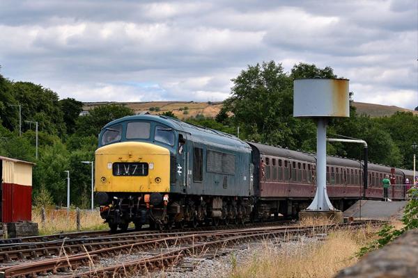 A diesel locomotive